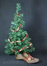 "Hand-Crafted 26"" Primitive Christmas Tree in Genuine Antique Wood Shoe Last Base"