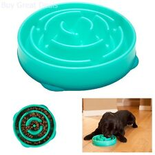 Slow Feed Dog Bowl Feeder Stop Bloat and Slow Eating in Dogs, Large, Blue