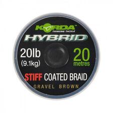 KORDA HYBRID STIFF COATED BRAID GRAVEL BROWN 20LB
