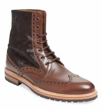 New in Box- $465 Gordon Rush Italy Brown Pony Hair/Leather Wingtip Boot Size 9.5