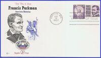 USA3 #1281 U/A COVER CRAFT FDC   Francis Parkman