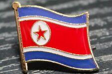 NORTH KOREA North Korean Metal Flag Lapel Pin Badge *NEW*