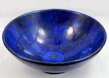 "Lapis lazuli bowl 5"" Inches wide hand made bowl from Badakhsan Afghanistan"