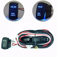 Wiring Harness Blue Rear Lights Laser Rocker Switch On-Off For 2 Led Light Bar