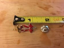 Ann Hand Sterling Silver Sword Tie Tac Pin Military White House POTUS