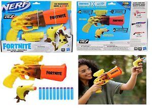 NERF Fortnite Peely Pack SR Ripe Go Bananas Blasters Ages 8+ Toy Fire Gun Fight