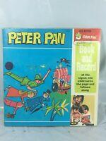 Vintage Peter Pan Records  # 1939 Read Along Book & 45 RPM Record Set Rare EUC