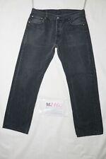 Levi's 501 BOYFRIEND usato (Cod.M2160) W36 L32 denim jeans dritto nero