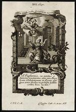 santino incisione 1700 S.EUFEMIA V.M. DI CALCEDONIA  klauber