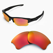 New Walleva Fire Red Replacement Lenses For Oakley Flak Jacket XLJ Sunglasses