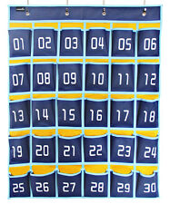 Classroom Hanging Organizer Numbered Pocket Chart for Cell Phones calculator