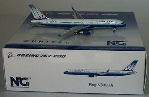 NG Model 53080 Boeing 757-222 United Airlines N532UA in 1:400 scale