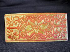 NEW Orange & Gold Brocade Hand Embroidered Chinese Silk Wallet/ Cash Holder New