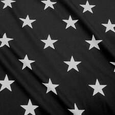 Stoff Meterware Baumwolle Sterne XL schwarz weiß star Popeline Kleiderstoff 2017