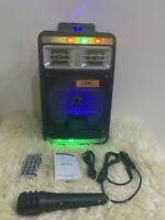 NEW Portable Wireless Bluetooth Speaker Subwoofer LED Party Karaoke MIC Remote