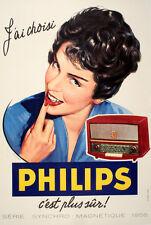 Original Vintage Poster Jai Choisi Philips - Medium by Lorelle 1956 TV Radio