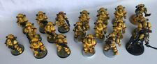 19 X FORGEWORLD Imperial Fists SPACE MARINES MARK 3 ARMOUR PAINTED - 40K