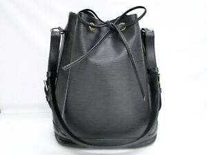 Louis Vuitton Shoulder Bag Drawstring Noe Epi M44002 Leather Black 16180298800 P