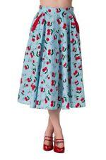 Calf Length Cotton Regular Flippy, Full Skirts for Women