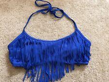 BP Medium Fringe Bikini Top Blue