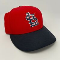 New Era St. Louis Cardinals 59Fifty Fitted Hat MLB Cap Red w/Navy Logo size 7