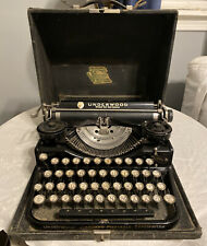 Early Circa 1927 Vtg Underwood B Model Four Bank Typewriter Swedish Characters