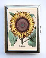 Sunflower Flower Cigarette Case Wallet Business Card Holder cute botanical