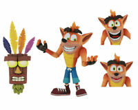 NECA CRASH BANDICOOT DELUXE FIGURE WITH AKU AKU MASK ACTION FIGURE IN STOCK