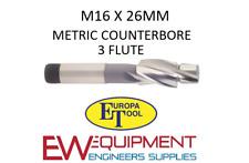 M16 X 26 mm rectificación HSS 3 flauta Europa Herramienta/Clarkson 1512011600