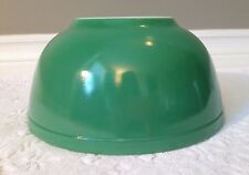 Vintage PYREX no #s 1940s; Solid-Primary-Colours Round GREEN Nesting Mixing-Bowl