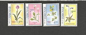 1988 Faroe Islands SC#169-72 MH stamps FLOWERS