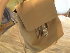 VINTAGE COACH LEGACY DRAWSTRING BACKPACK TAN LEATHER