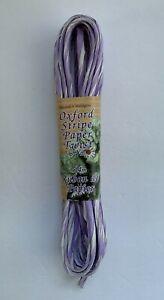 Lavender & White Oxford Stripe Twisted Paper Ribbon