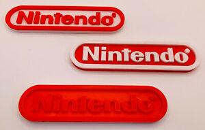 Nintendo Logo Shelf Display Free Standing Sign Plaque Gaming Geek Gift Retro