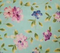 Ariel BTY Studio 8 Quilting Treasures Watercolor Floral Vine on Light Aqua