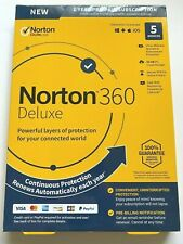 Norton 360 Deluxe 5 Devices 1 Year For Windows/Mac/Mobile NEW