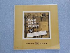 Great Sacred Choruses The Robert Shaw Chorale  LP Record LM-1117