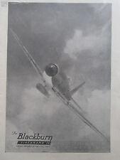 6/1946 PUB BLACKBURN FIREBRAND IV STRIKE AIRCRAFT ROYAL NAVY ORIGINAL AD