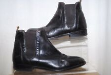 DUNNES Ladies Dark Brown Leather Ankle Boots Uk Size 6.5