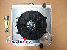 Aluminum Radiator + Shroud + Fan for FORD Falcon XR XT XW XY Windsor 289 302 351