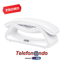 TELEFONO CORDLESS FACILE SMILE TIM TELECOM BIANCO - WHITE