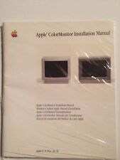 Apple Color Monitor Installation Manual
