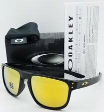 NEW Oakley Holbrook R sunglasses Matte Black 24K 9377-0555 Round Gold AUTHENTIC