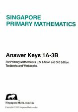 Singapore Primary Mathematics Answer Keys 1A-3B -FREE SHIPPING!!!