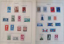 10 pagine, Francobolli,  Italia Repubblica, 1958 - 1962,nuovi,linguellati,