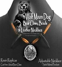 WOLF MOON DOG GRIZZLY NECKLACE MOUNTAIN MAN BEAR CLAW HAT BAND FREE SHIP NEW #p'