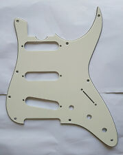 Don Grosh Retro Classic Strat Guitar Pickguard Scratch Plate, 3 Ply Parchment