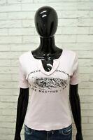 Maglia REPLAY Donna Taglia Size S Maglietta Canotta Shirt Woman Cotone Rosa Slim