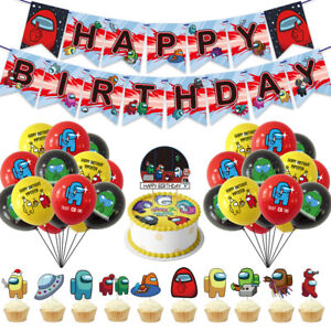 Among Us Game Happy Birthday Party Set Party Supplies Decoration