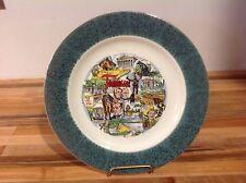 "Tennessee Homer Laughlin Ceramic Vintage State Souvenir Plate - 7 1/2"""